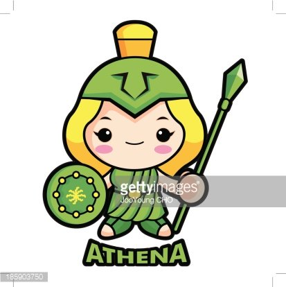 Goddess of War Athena premium clipart.