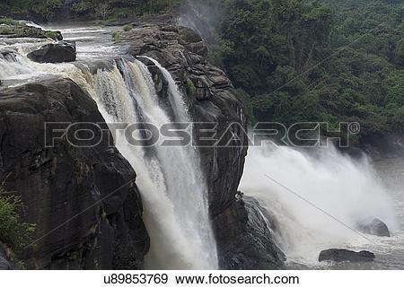 Stock Photograph of Athirapally Waterfalls u89853769.