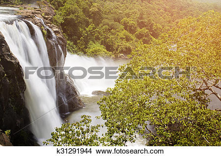 Stock Photo of Waterfall at Athirapally Kerala India k31291944.