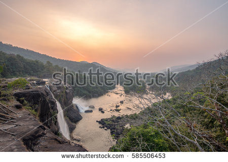 Athirappilly Stock Photos, Royalty.