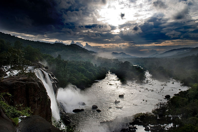 Athirappilly Waterfalls.