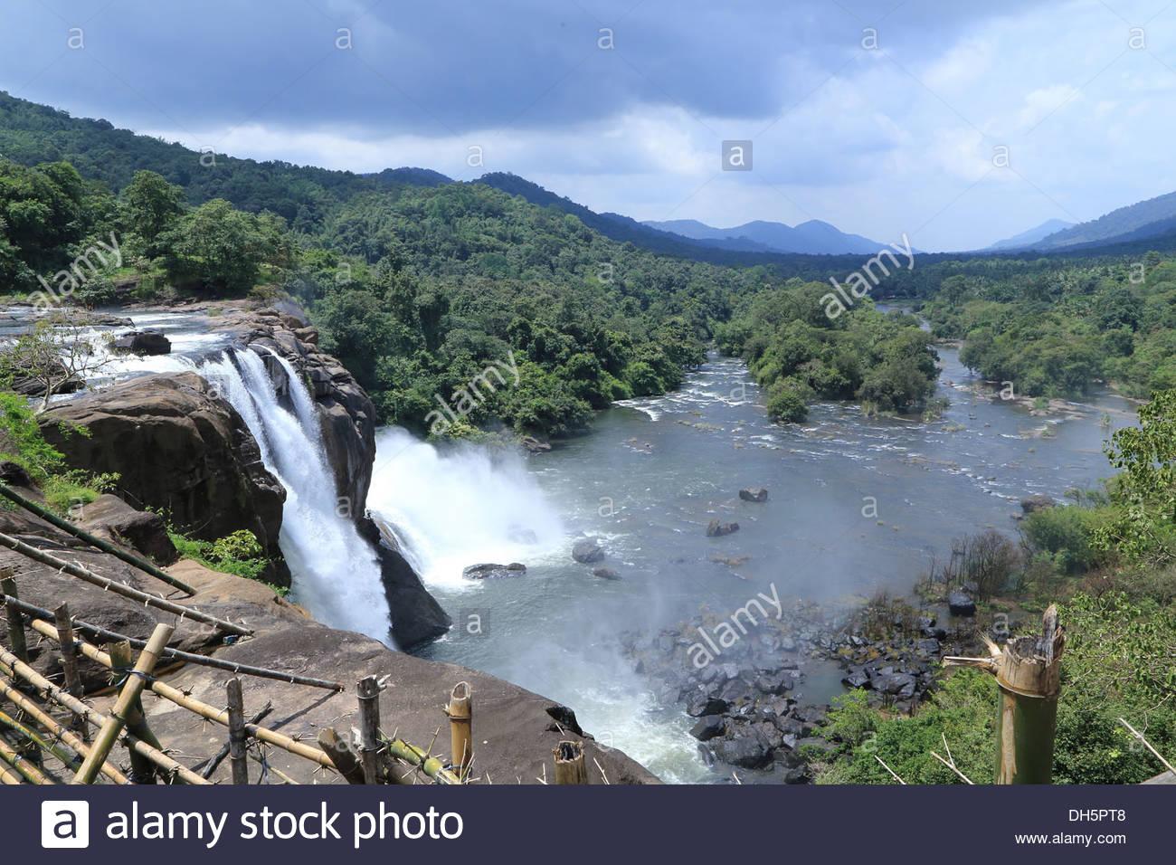 Athirappilly Falls, Kerala, India Stock Photo, Royalty Free Image.