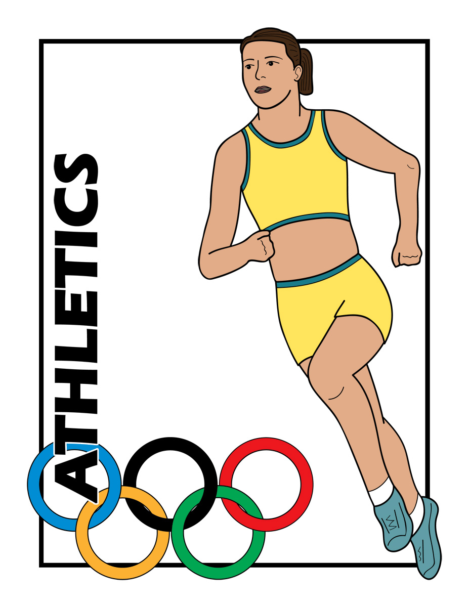 Olympic athlete clipart.