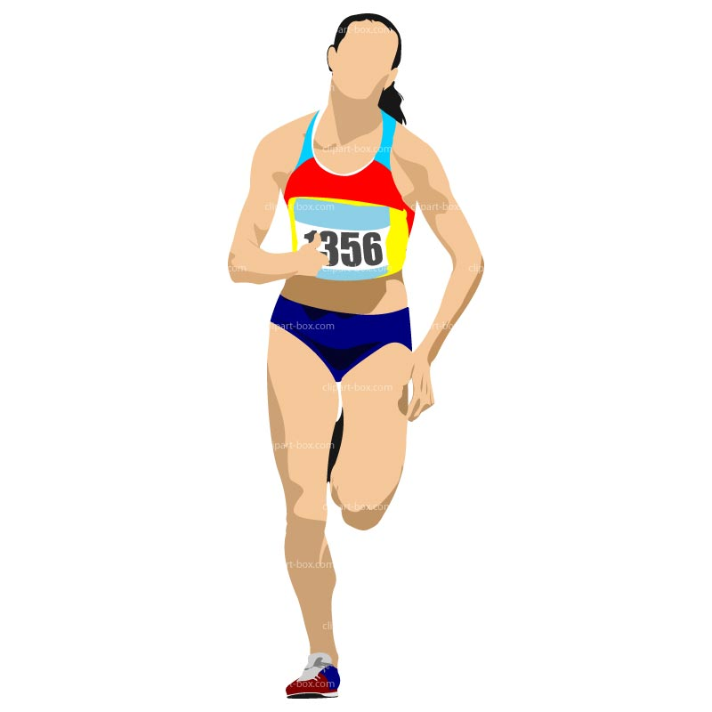 Clipart athlete running.