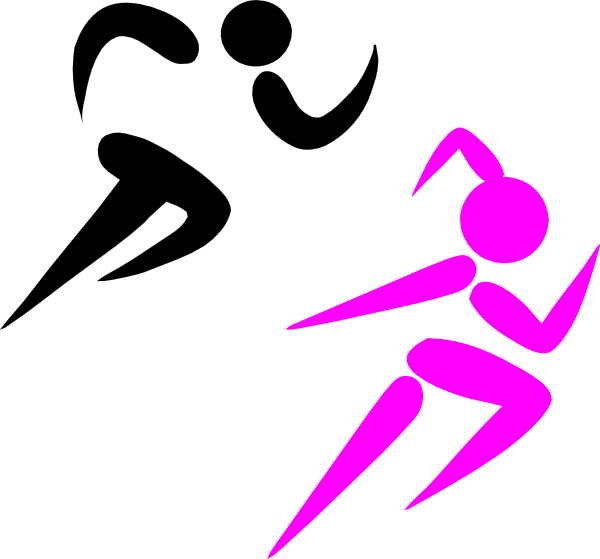 Athletes Running Clipart.