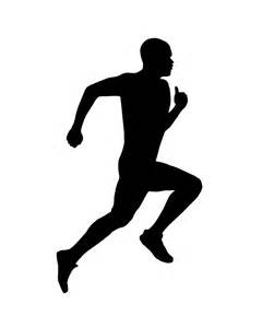 Athletes Running Clipart.
