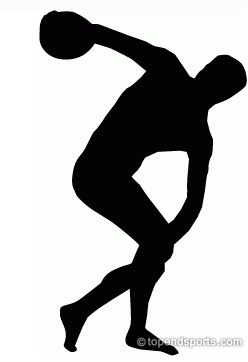 Olympic athletes clipart.