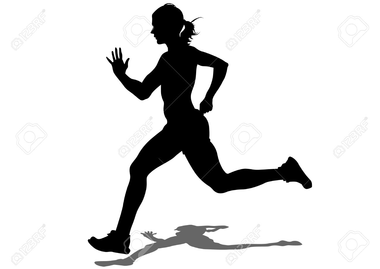 Female athletes clipart.