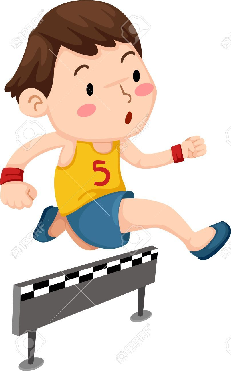 Image result for children jumping hurdles, clipart.