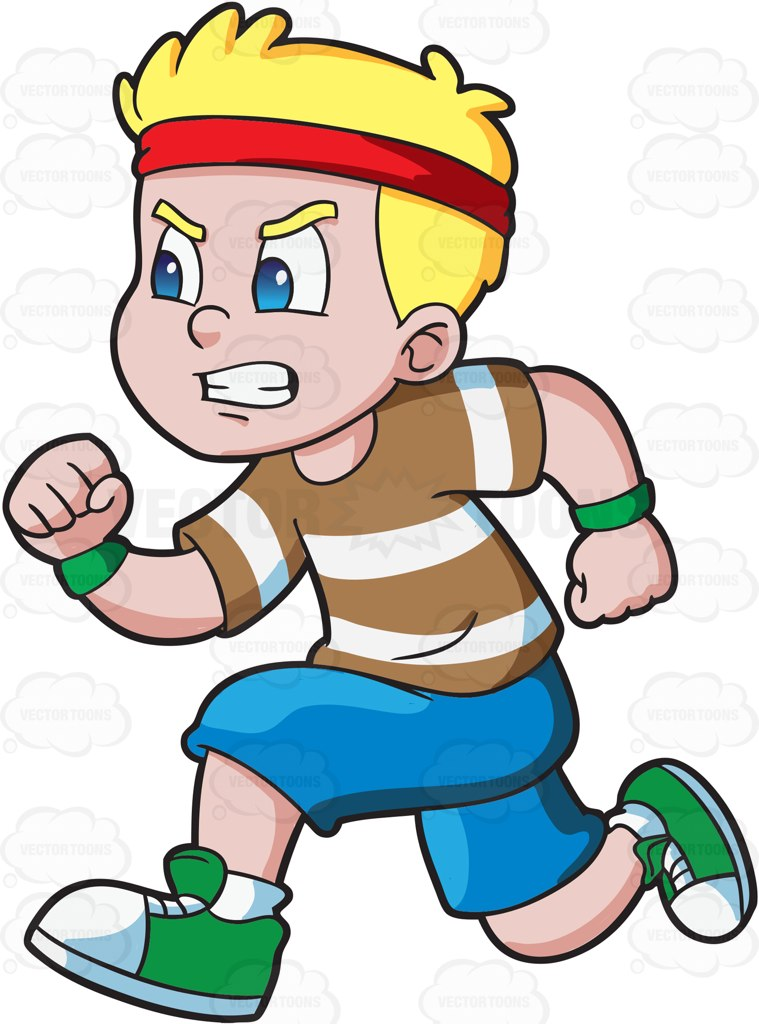 Animated Athlete Clipart.