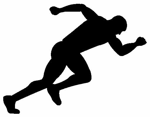 Athletics clipart black and white 1 » Clipart Station.