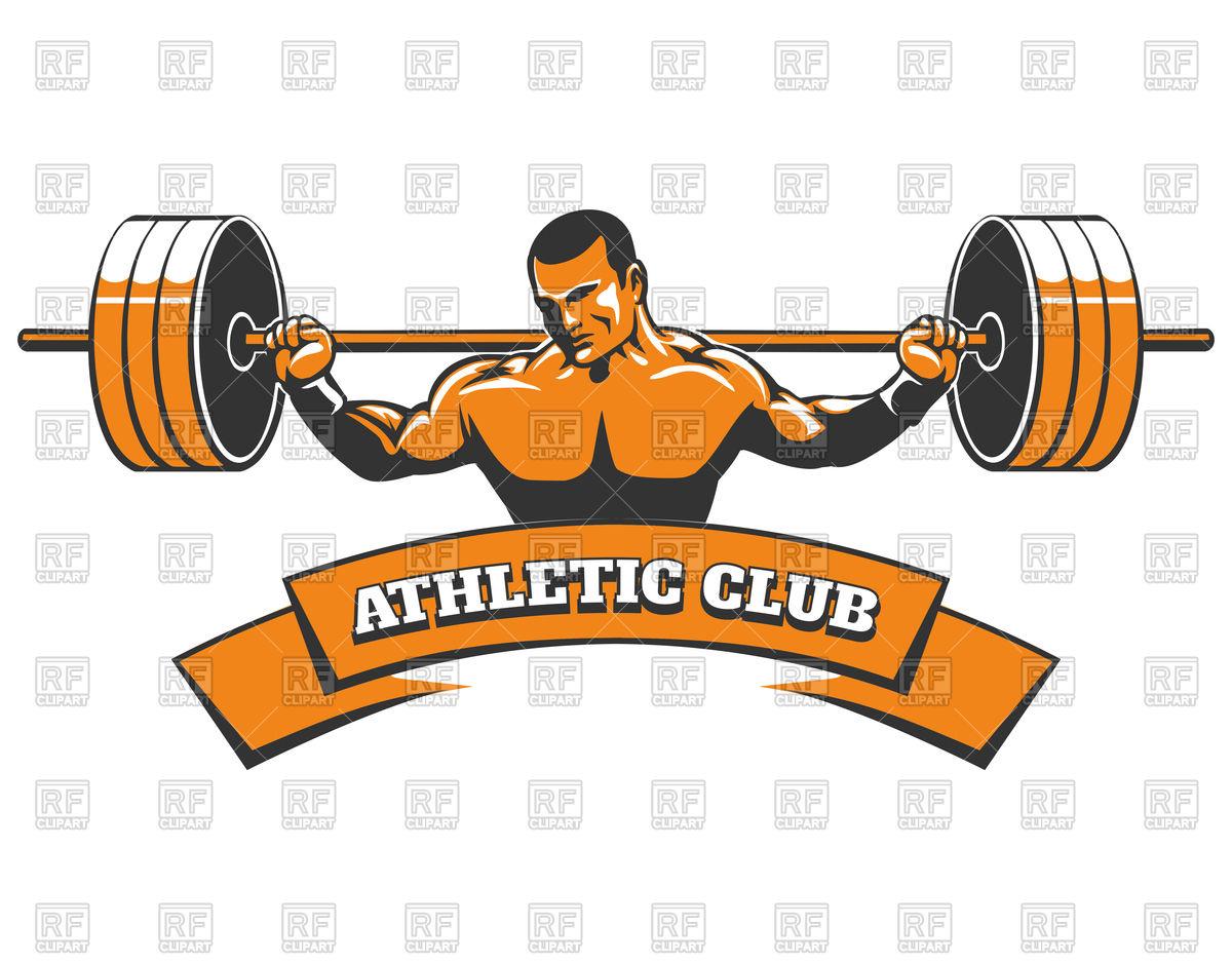 Athletic club or gym emblem.