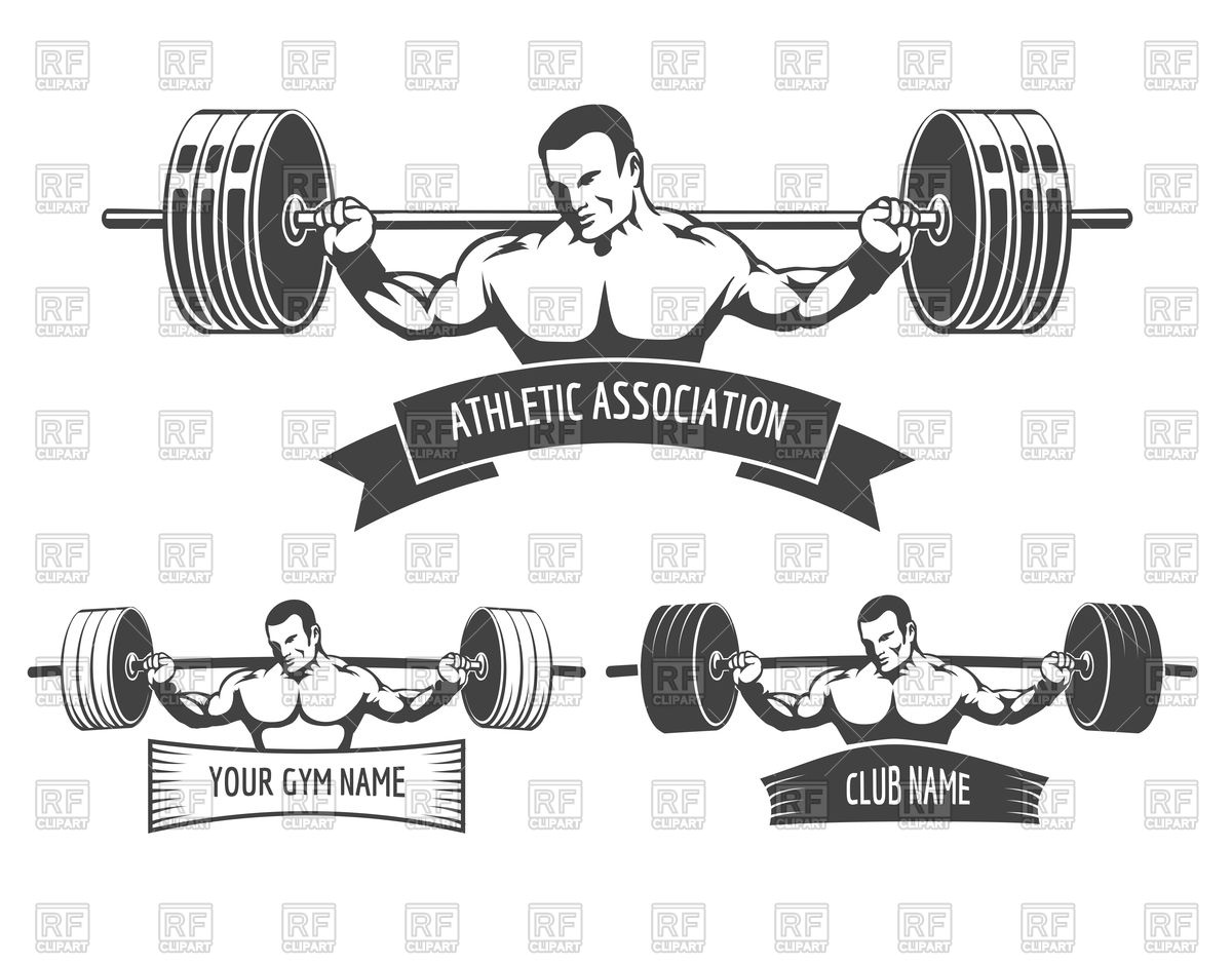 Athletic club or gym emblem set Vector Image #97372.