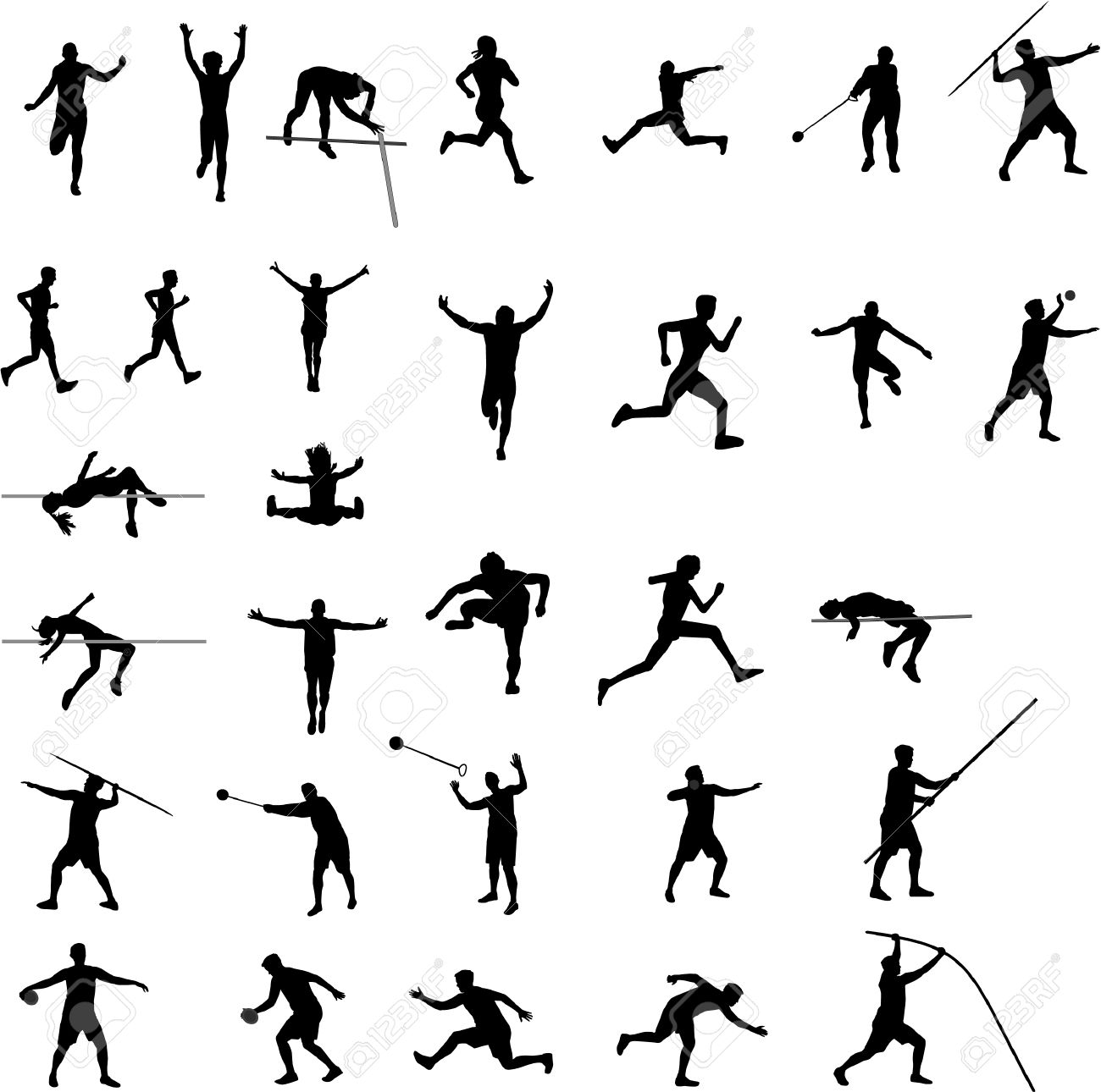 athletic silhouettes.
