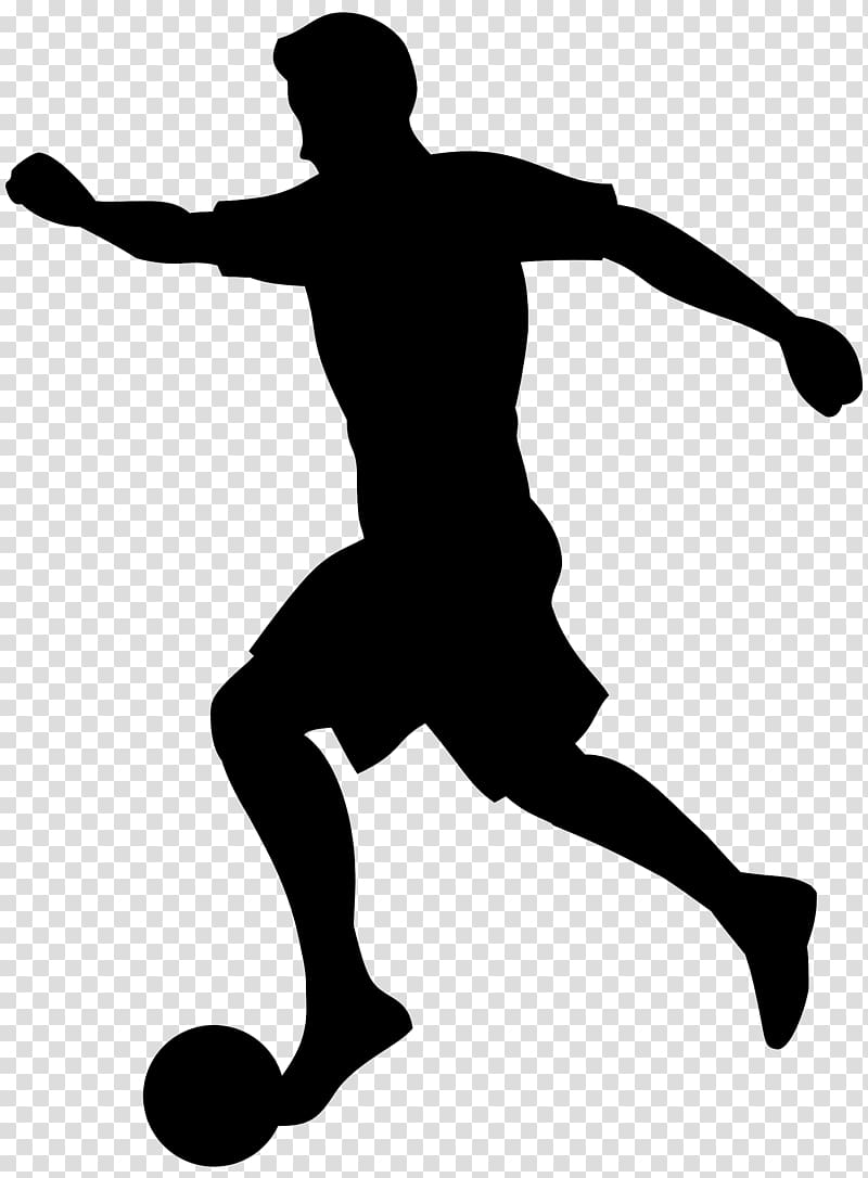 Football player Silhouette , Soccer transparent background PNG.