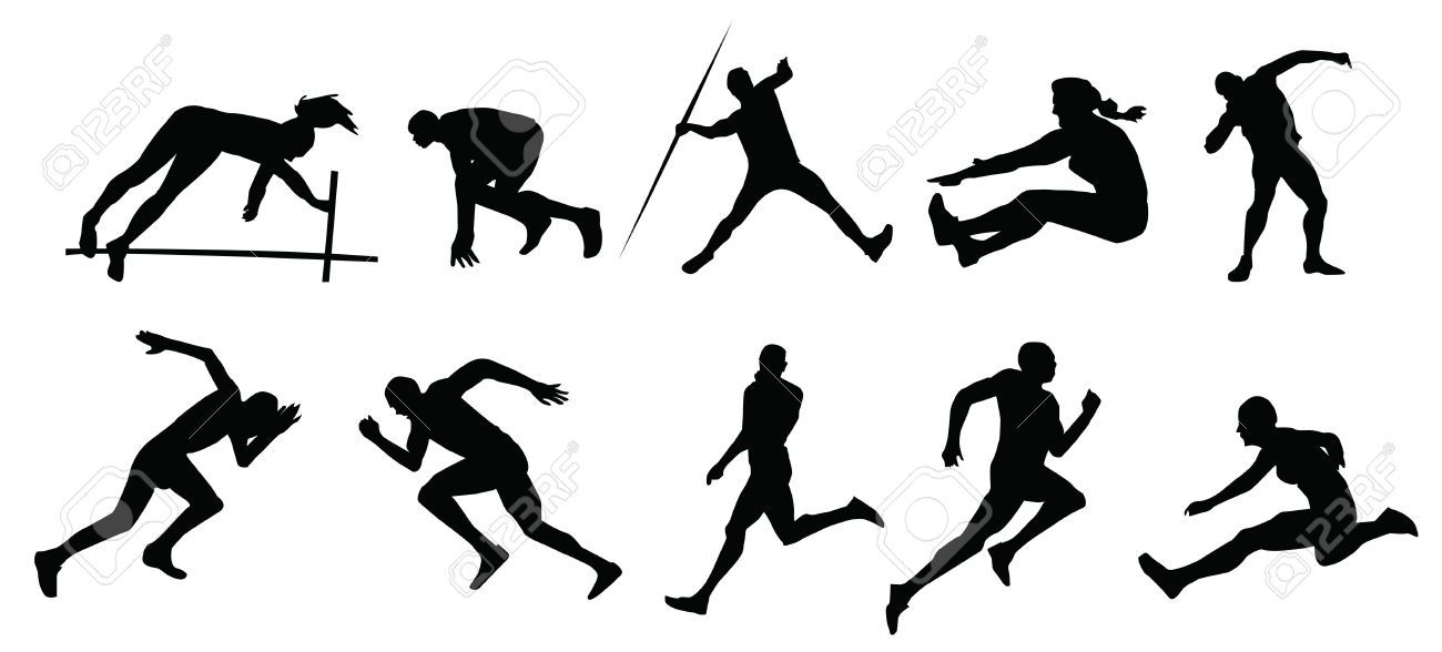Free download Track And Field Silhouette Clipart for your creation.