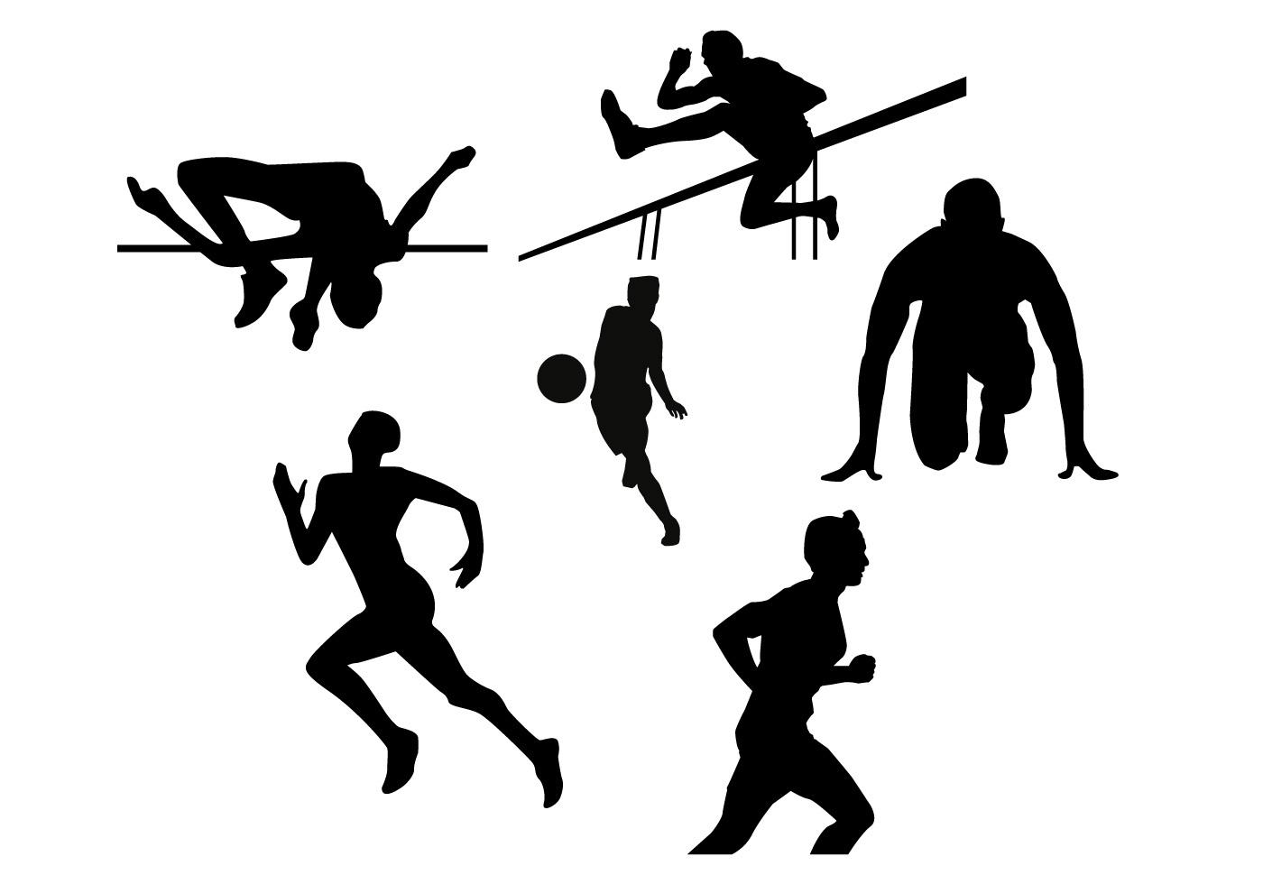 HD Running Athlete Silhouette Design » Free Vector Art, Images.