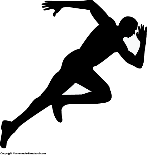 Athlete clipart silhouette, Athlete silhouette Transparent FREE for.