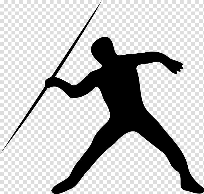 Javelin throw Track & Field Sport, sports silhouettes.