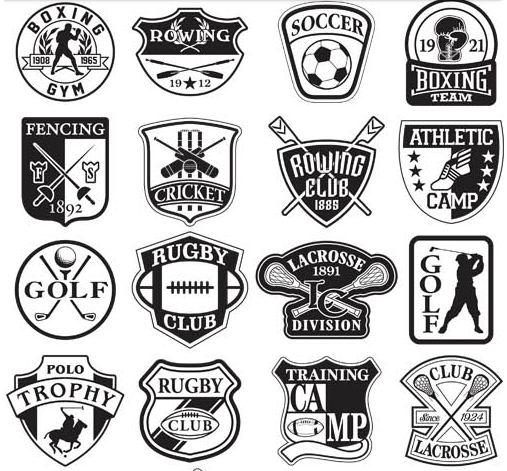 Retro Sports Labels vectors graphics free download.