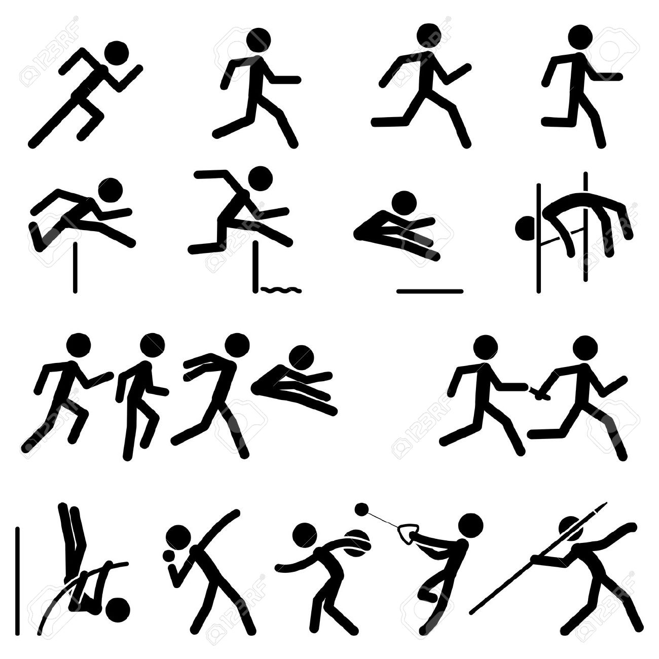 90 Athletics Clipart.