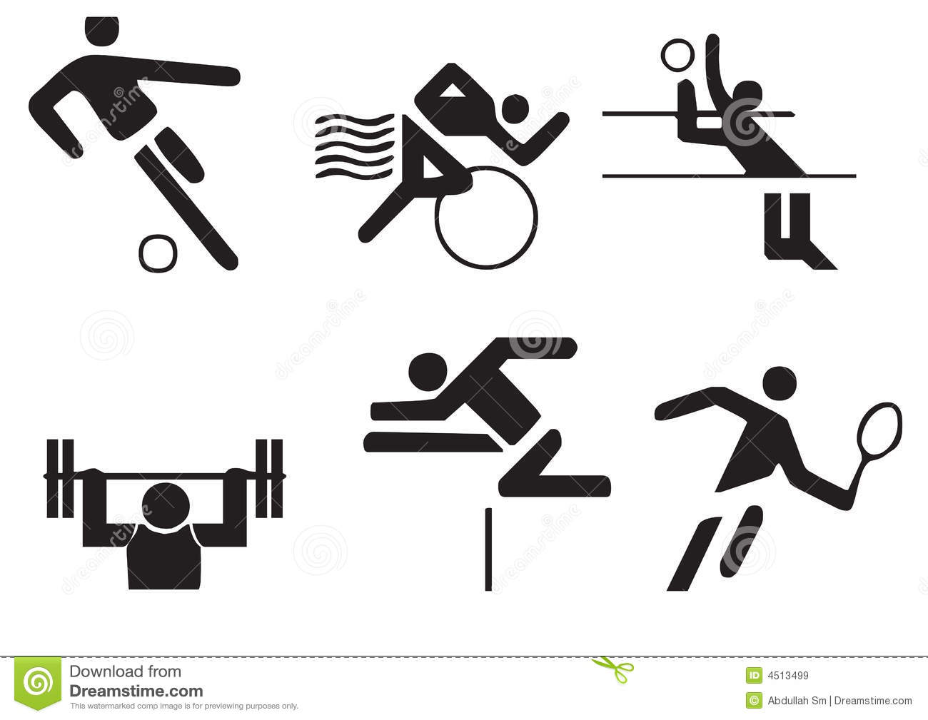 Vector sports symbols stock illustration. Illustration of games.