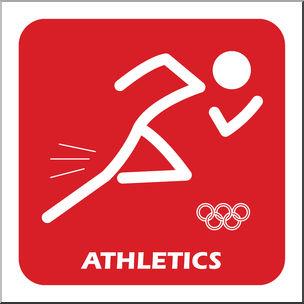 Clip Art: Summer Olympics Event Icon: Athletics Color I abcteach.com.