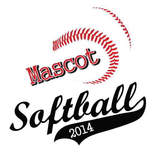 Softball mascot and sports tail clipart download vector image #5582.