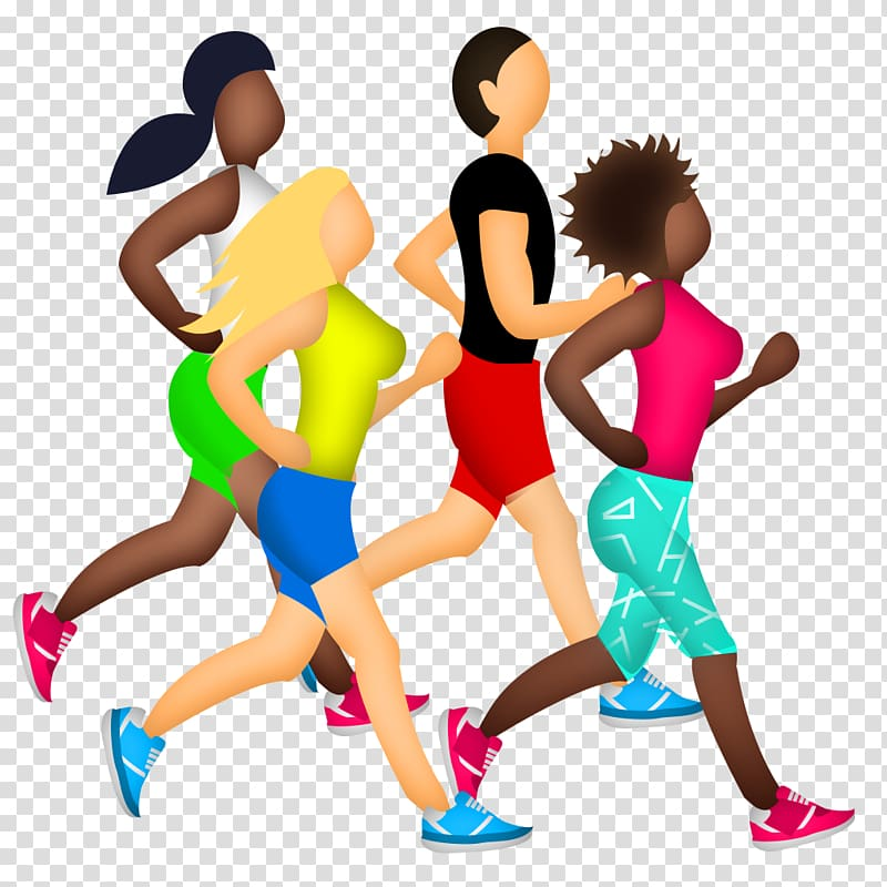 Marathon training Sport Emoji Running, jogging transparent.