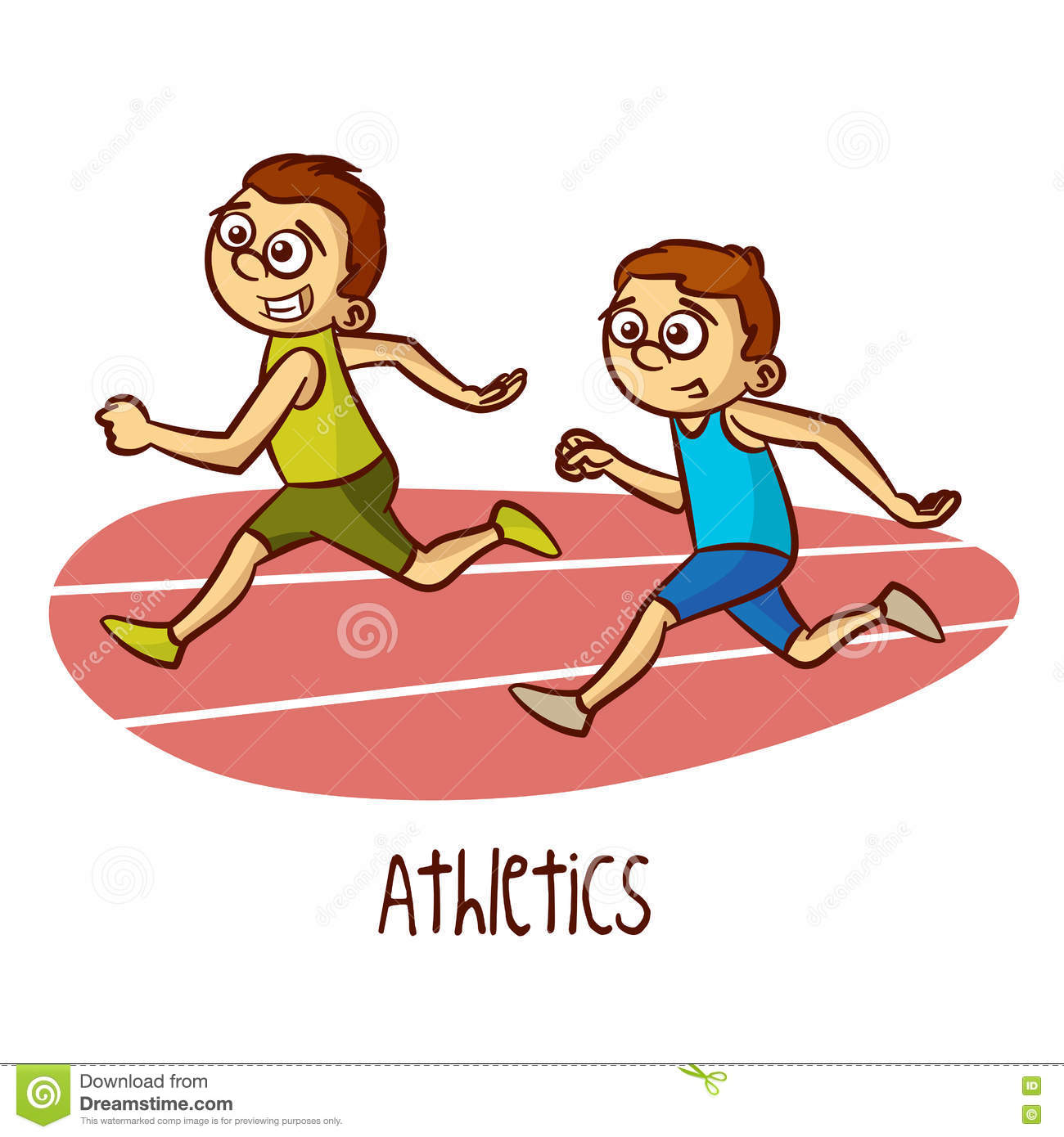 Children athletics clipart.