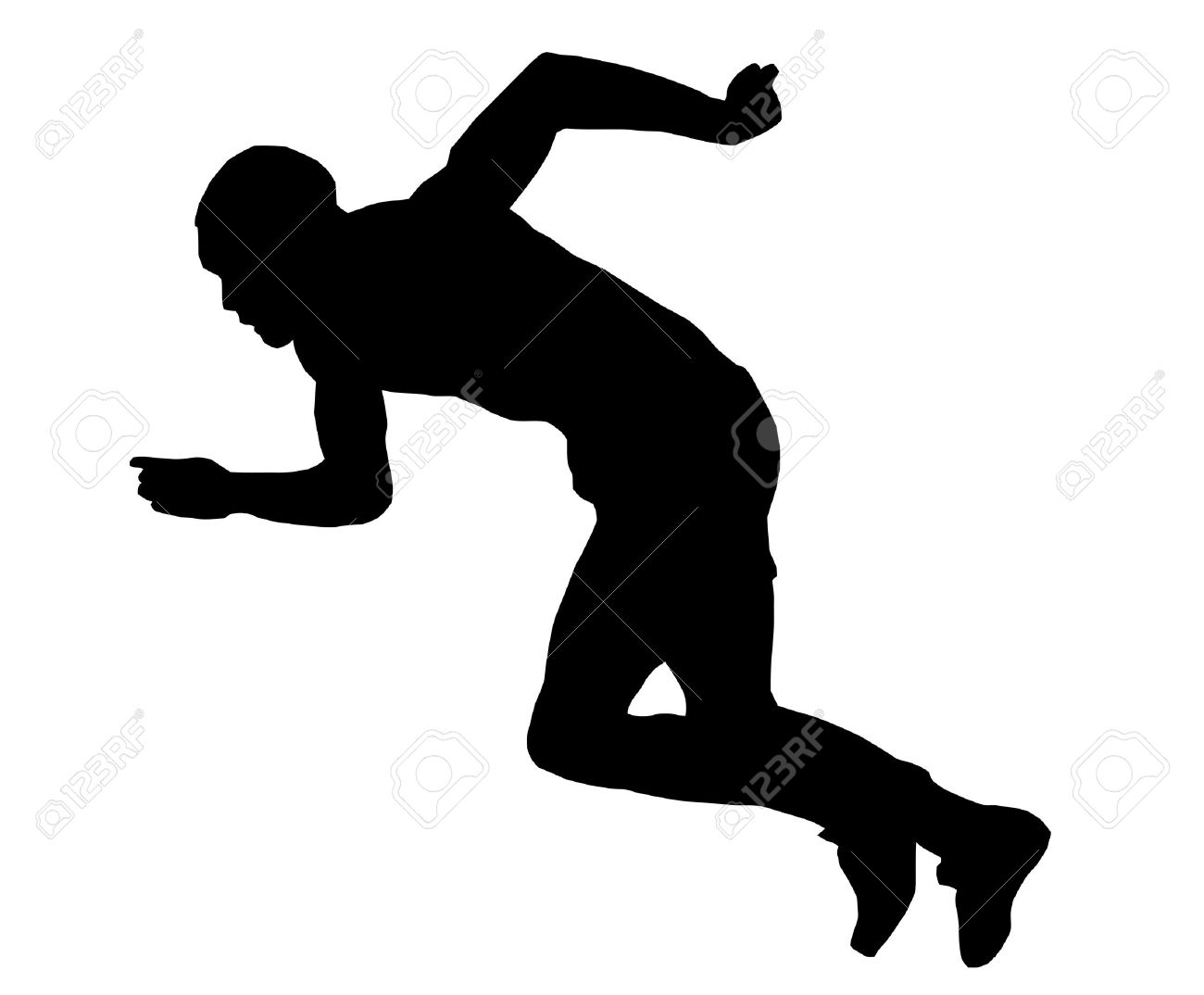athlete clipart black and white - Clipground