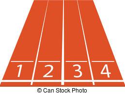 Vector Illustration of athletics track sport stadium football.