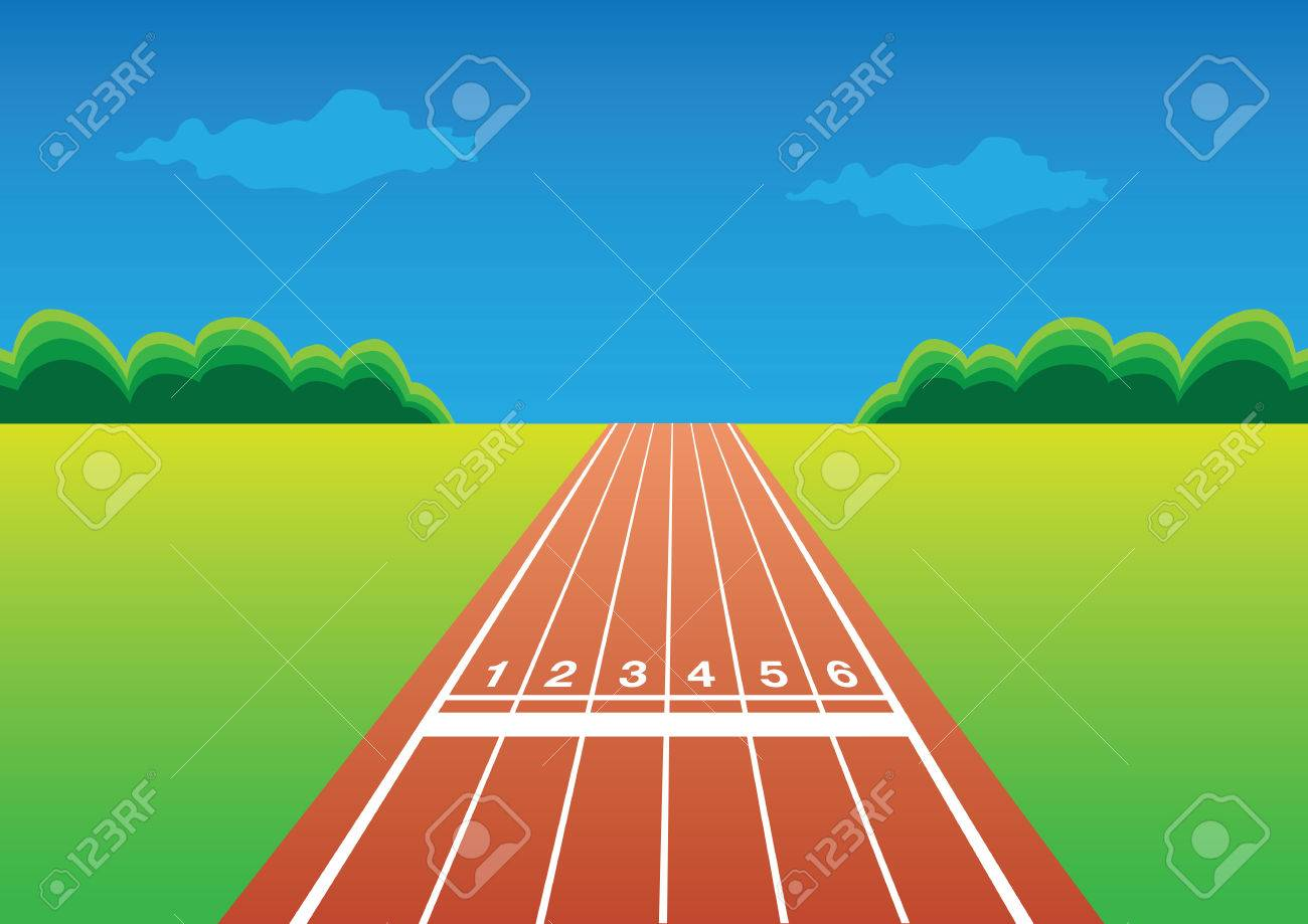 Running race track » Clipart Station.