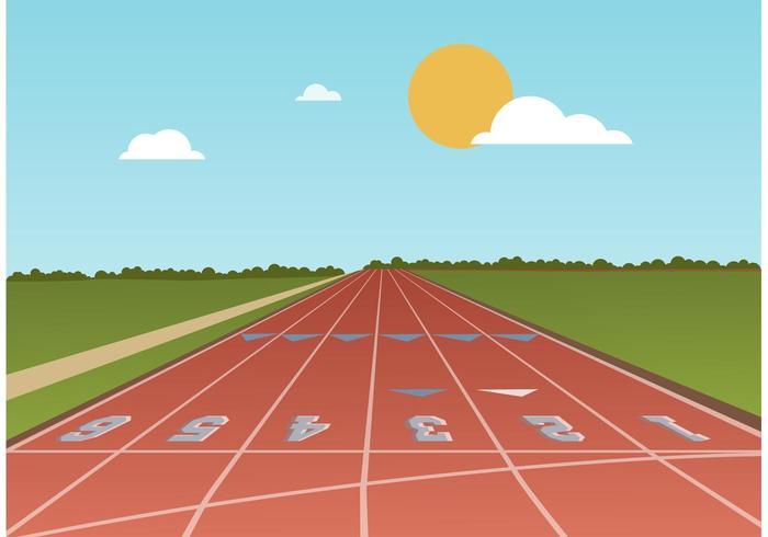 Free Running Track Vector.