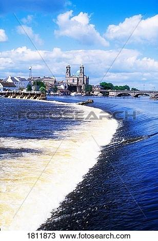 Stock Photo of Co Westmeath, Athlone and the River Shannon.