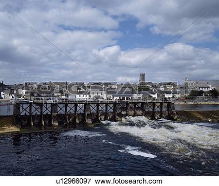 Picture of Co Westmeath, Salmon Leap Weir, Athlone, u12966097.