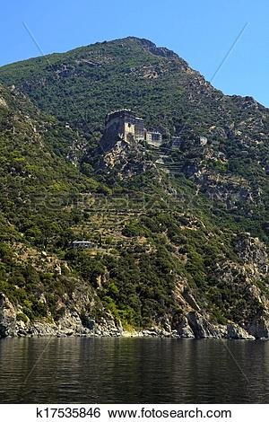 Stock Images of Simonopetra Monastery, Mount Athos, Greece.