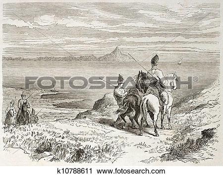 Clipart of Mount Athos k10788611.