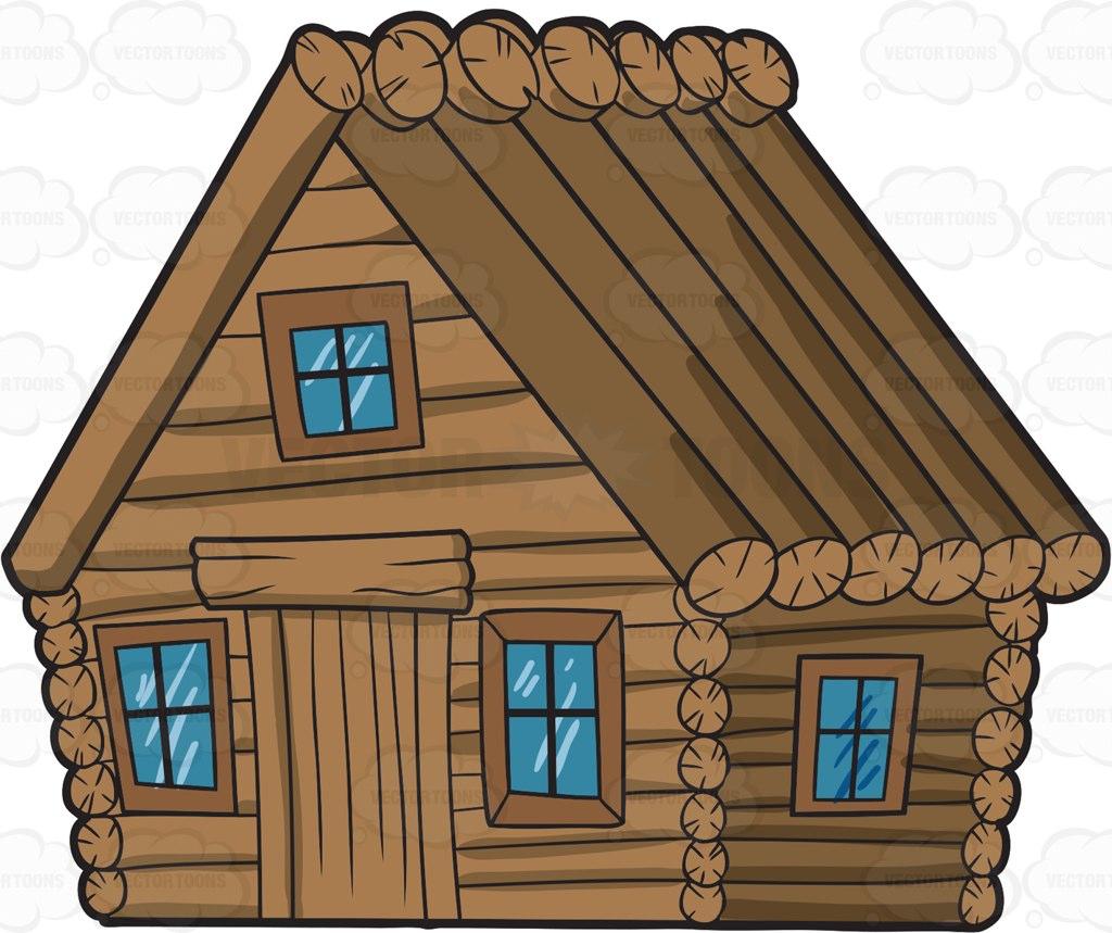 293 Log Cabin free clipart.