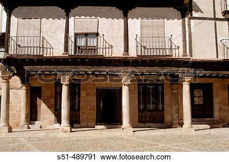 Stock Photography of Plaza Bruno Pascual, Antigua Plaza del.