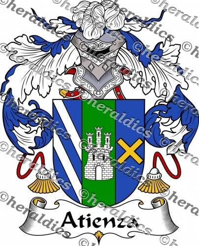 Atienza Coat of Arms Atienza Family Crest Instant Download.