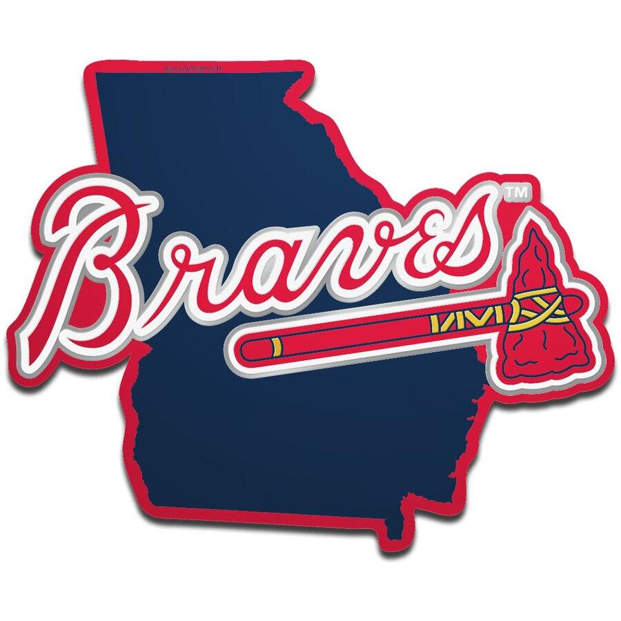 Atlanta Braves WinCraft Metallic State Shape Acrylic Auto Emblem.