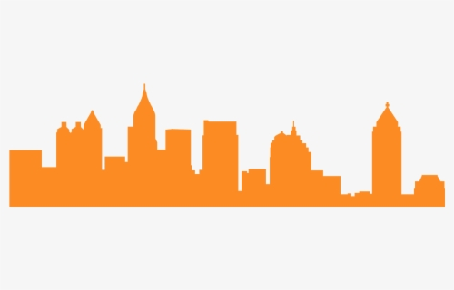 Free Atlanta Skyline Clip Art with No Background.