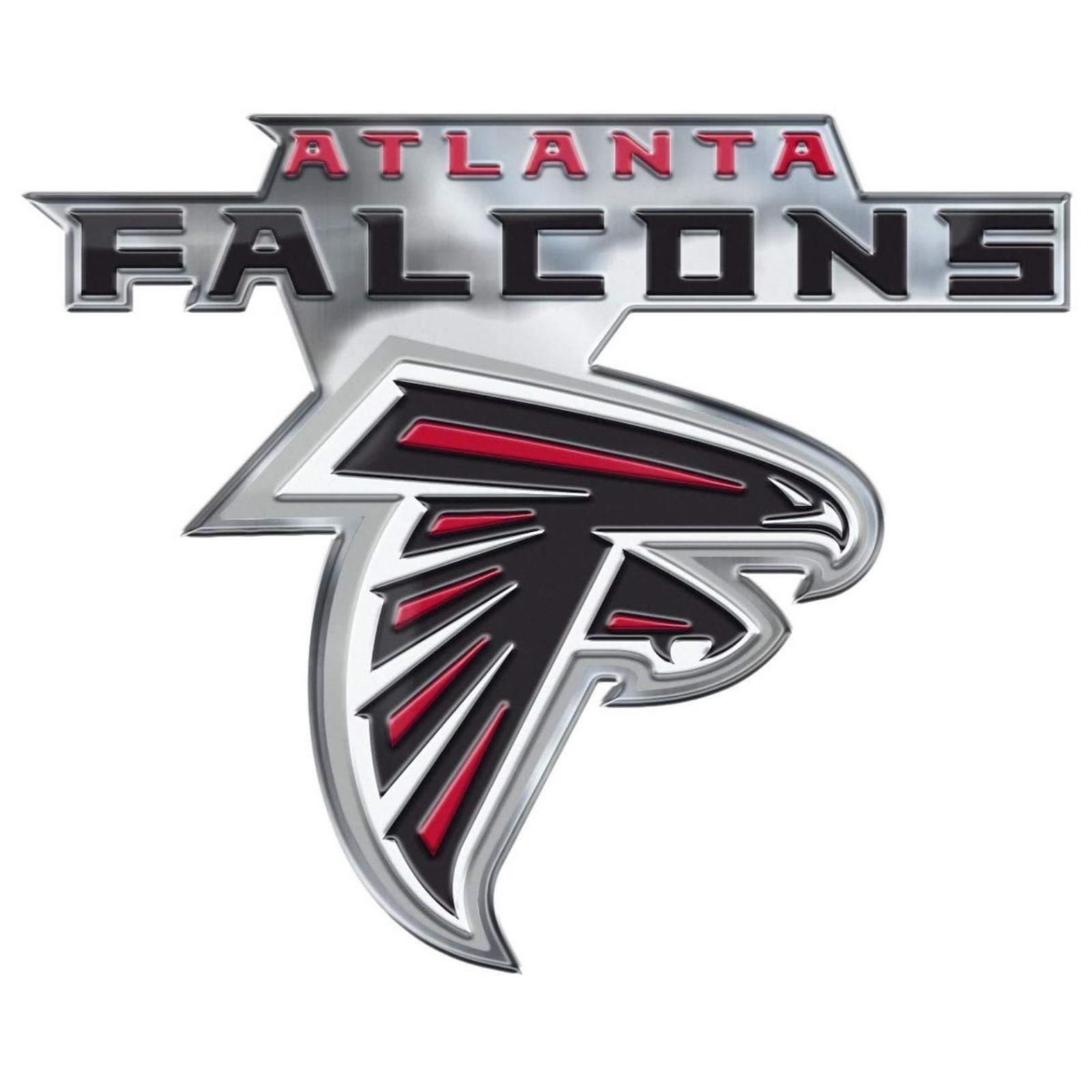 Details about Atlanta Falcons CE4 Alternative Logo Color Auto Emblem Chrome  Decal Football.