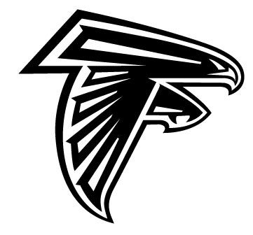images of the ATLANTA FALCONS football logos.