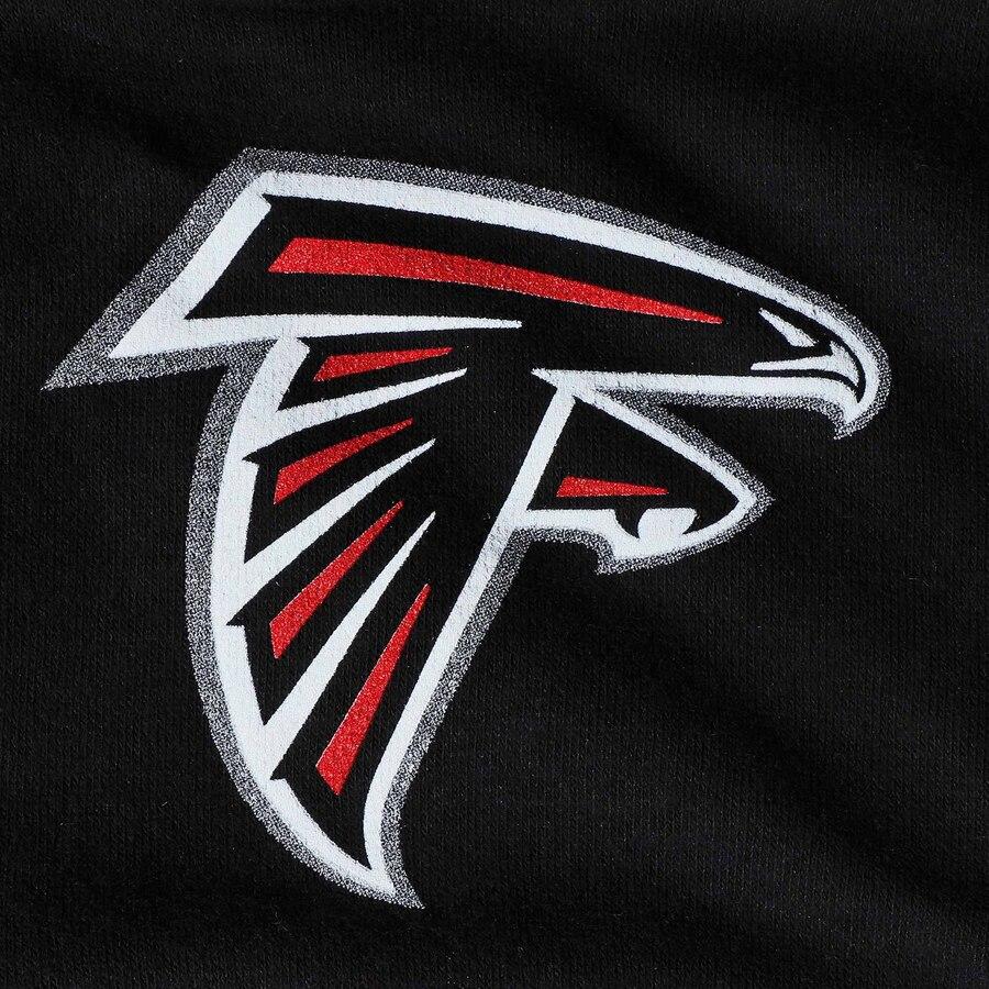 Toddler Black Atlanta Falcons Team Logo Pullover Hoodie.