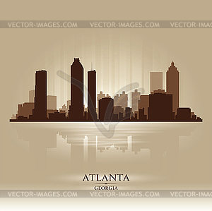 Atlanta Georgia skyline city silhouette.