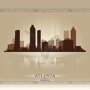 Atlanta Georgia skyline city silhouette.