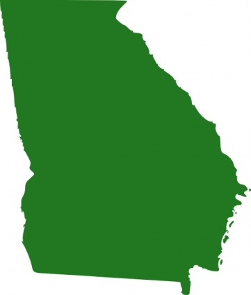 State Of Georgia Map clip art free vector.