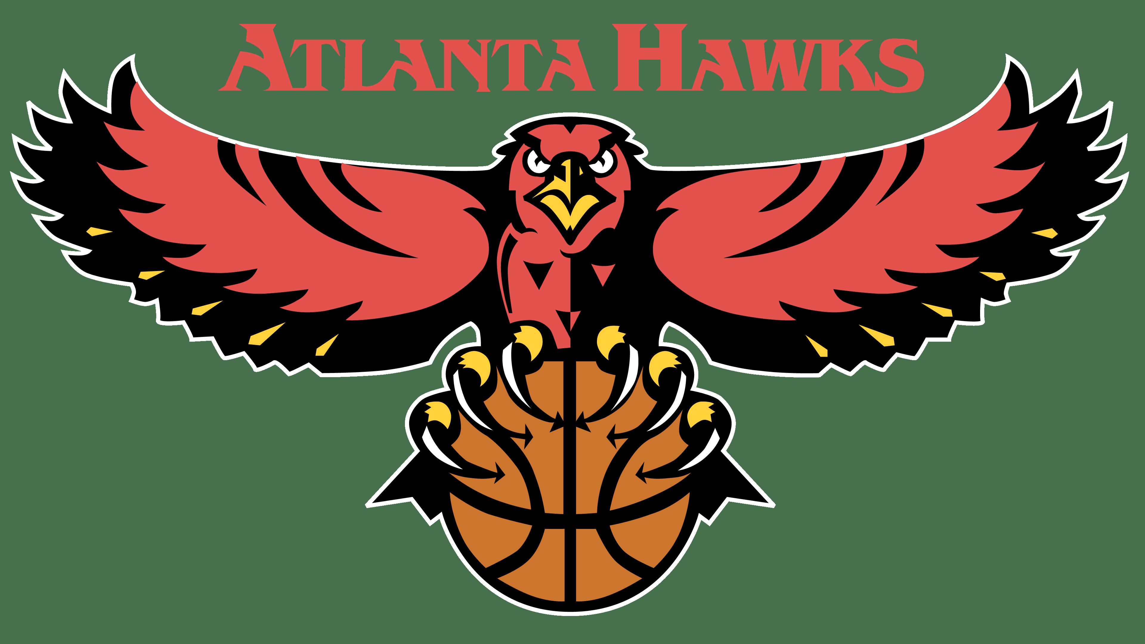 Atlanta Hawks logos.